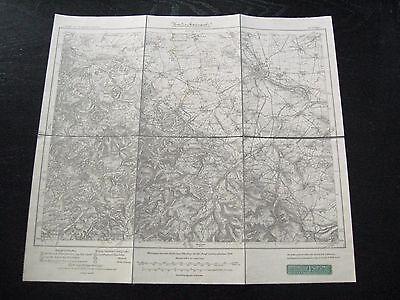 alte Landkarte Karte Messtischblatt Nr.437.Gotha von 1918