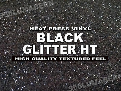 12x20 Black Glitter Heat Transfer Vinylt-shirt Sheetrollthermal Press