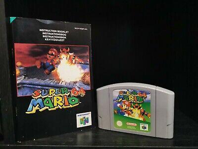 Super Mario 64 (Nintendo 64, 1997) Manual Included - NO BOX N64