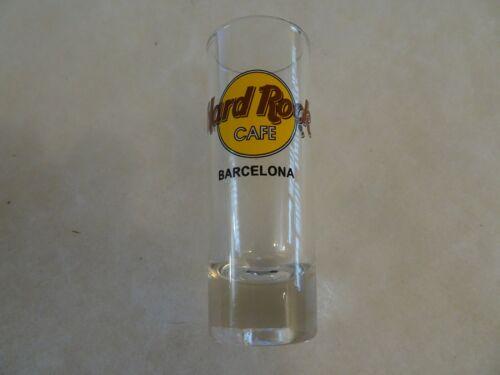Hard Rock Cafe Shot Glass Barcelona Classic Logo Double Black Circle & Lettering