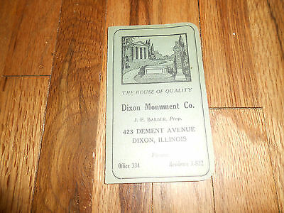 Vintage Sewing Needle Book Advertising Dixon Monument IL Illinois