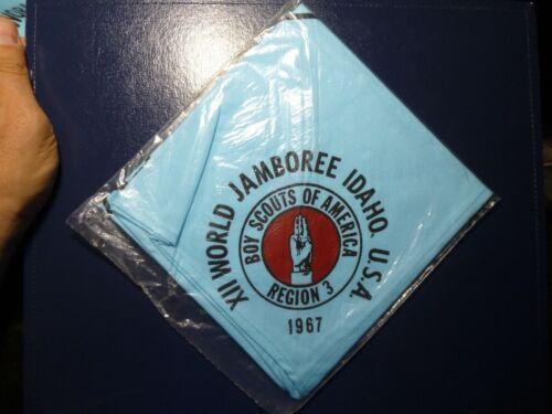 Boy Scout 1967 XII World Jamboree Region 3 Contingent Neckerchief With Map