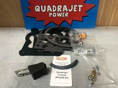 Quadrajet Complete Custom Premium Rebuild Kit With Float Filter For YOUR Qjet