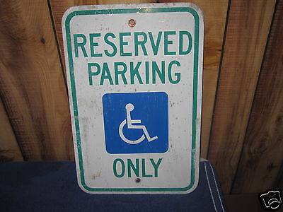 CITY & ROAD  SIGNS      RESERVED  PARKING SIGN