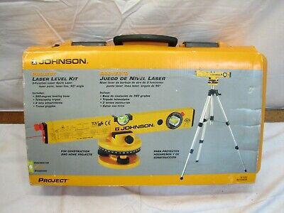 Johnson Laser Level Kit 9100 40-0909 Construction Tool Wcase Tripod