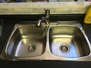 Kitchen sink and faucet - $120