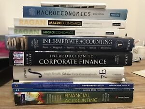 Eco, math, finance textbooks and iclicker