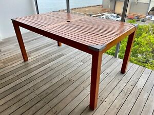 Outdoor Timber Table Outdoor Dining Furniture Gumtree