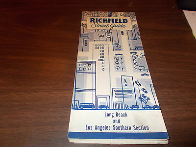 1957 Richfield Long Beach/Los Angeles Southern Section Vintage Road Map