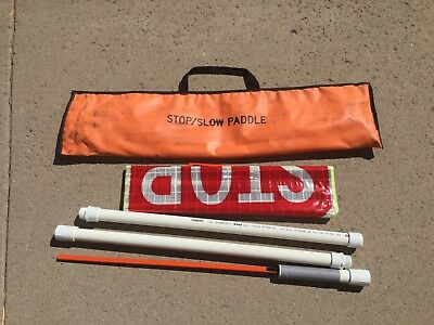 Slow Stop Reflective Roll Up 24 Reflective Traffic Sign With 5 Pvc Pole