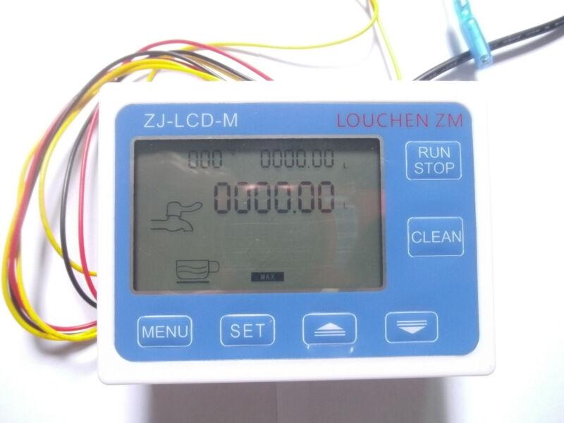 LCD Water Liquid FlowSensor Digital Display Flowmeter Quantitative Controller x1