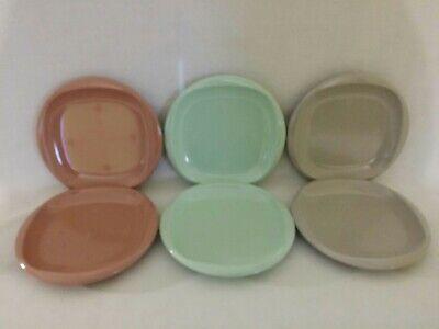 Vintage Boontonware Belle Melamine Melmac Boonton Ware Bread Salad Plates Lot 6