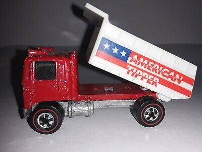 Hot Wheels Redline Original America Tipper Red clean   Flying Colors, Dump truck