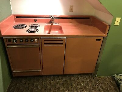Dwyer Vintage kitchen kitchenette Stove Sink refrigerator cabinet porcelain