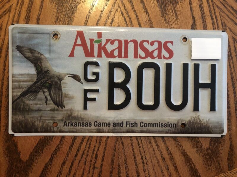 Arkansas Game & Fish Commission License Plate Duck Pintail Hunting Wildlife AGFC