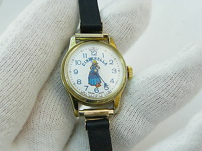 (CINDERELLA 1960's RARE 'The Shoe Fits' Dial, Manual Wind, KIDS/WOMENS WATCH,1017)