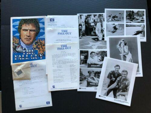 The Fall Guy (Lee Majors, 1984 - Fox TV Press Kit Envelope w/Press Photos & News