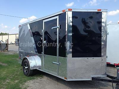New 2021 6x12 6 X 12 V-nosed Enclosed Cargo Motorcycle Trailer Ramp Loaded