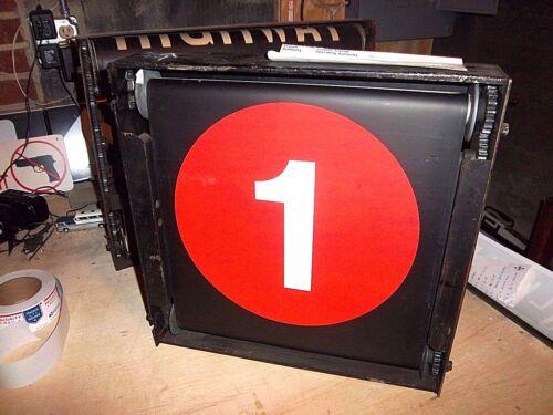 R17 NYCTA VINTAGE NY NYC SUBWAY ROLL SIGN NY COMPLETE ORIGINAL BOX GEAR WORKS