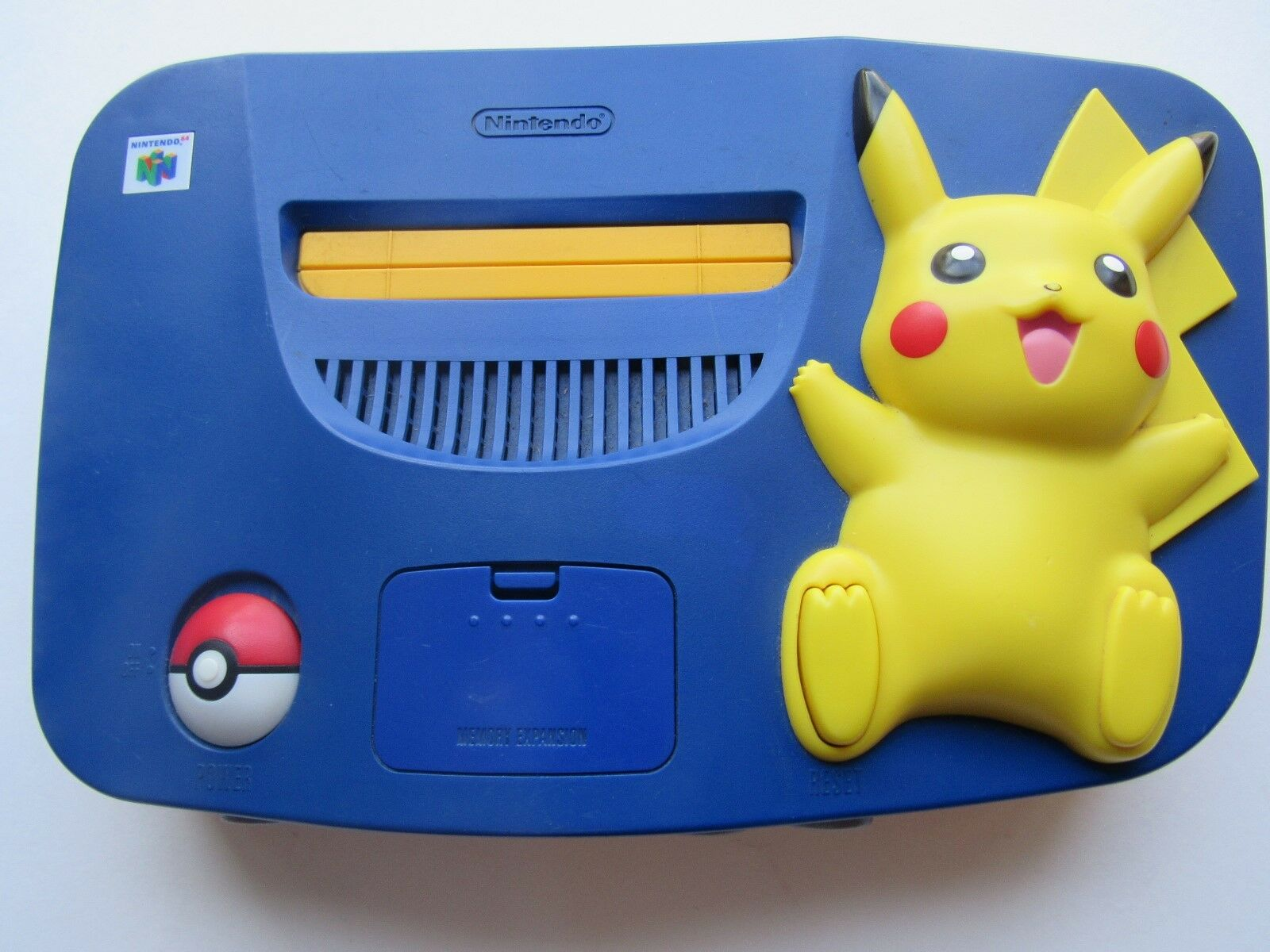 *GOOD* Nintendo 64 N64 OEM Video Game Console System Funtastic Pokemon Gold Rare Pikachu Pokemon *Console & Jumper* TOYS R US