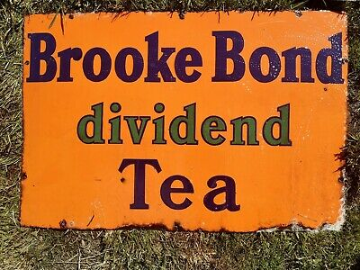 Brooke Bond Dividend tea Enamel Sign vintage retro mancave garage kitchen