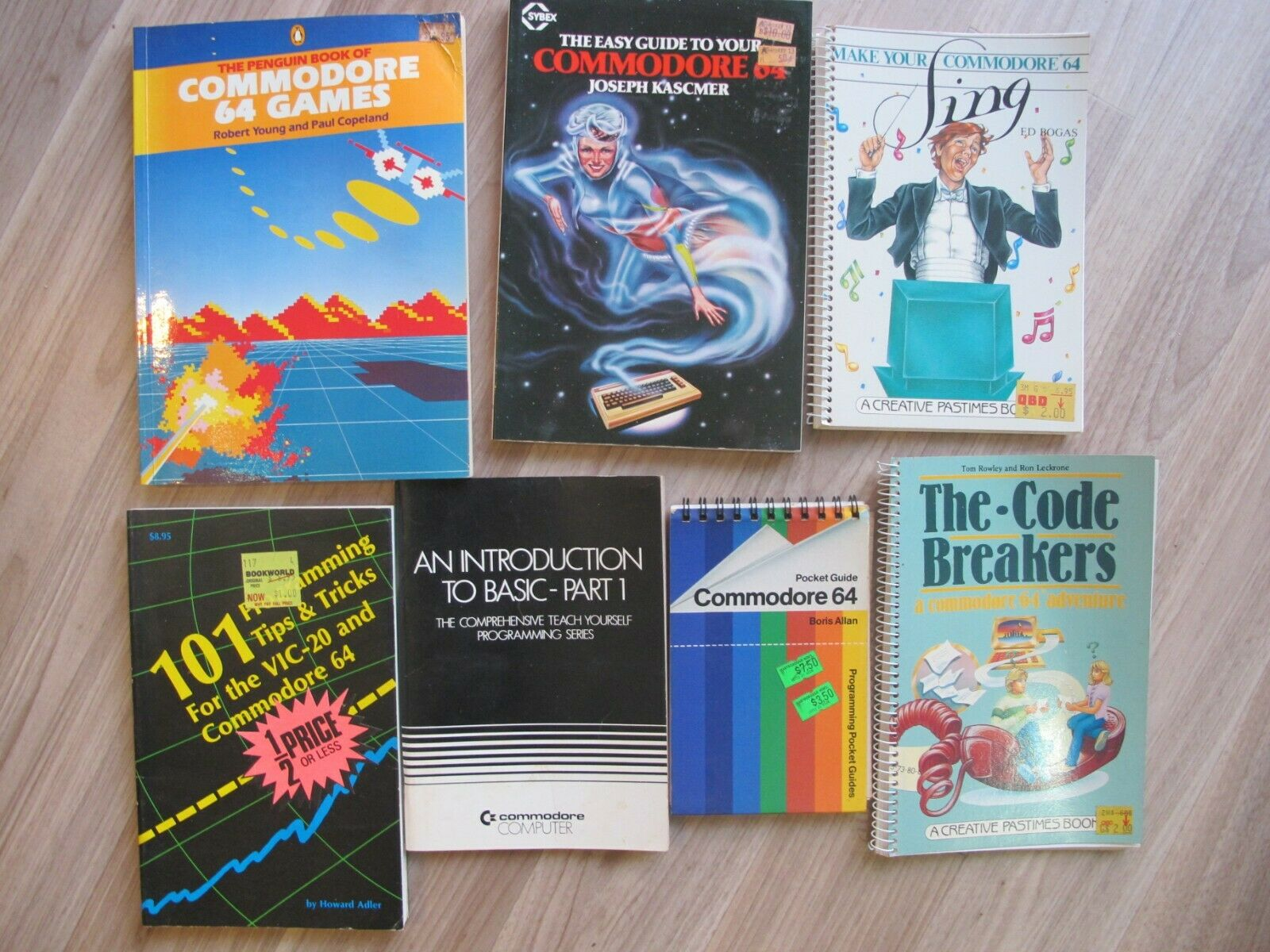 Computer Games - Commodore 64  Computer Books x7