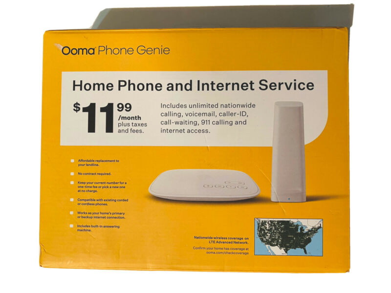 Ooma Phone Genie, Alternative Home Phone Service No Internet Connection Required