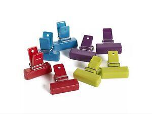 PACK 8 Food Storage Bag Clips Freezer Bag Sealing Clips