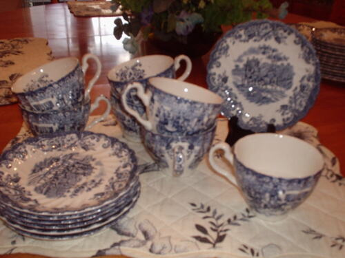 Johnson Bros.- Coach Scenes- Cups and Saucers -7 -  Unused
