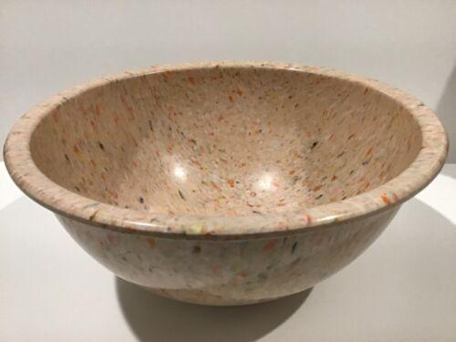 Vintage Texas Ware Melmac Kitchen Mixing Bowl # 118 Confetti Splatter Light Pink