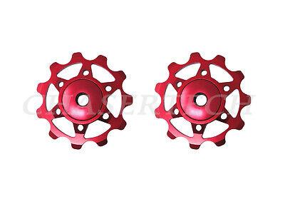 SRAM 11T Enduro Zero Ceramic Jockey Pulleys Red 11S Force White Delrin pair