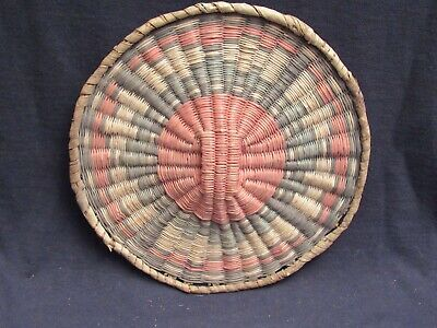 Colorful Hopi Wicker Basket 9