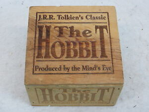 J-R-R-Tolkien-THE-HOBBIT-6-Audiocassettes-Wood-Box-Set-Minds-Eye-Soundelux