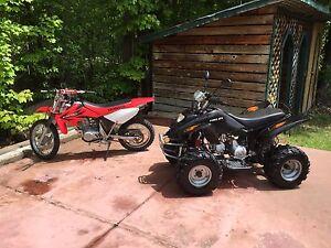 Kid fun package - 110cc ATV and 80cc honda dirt bike