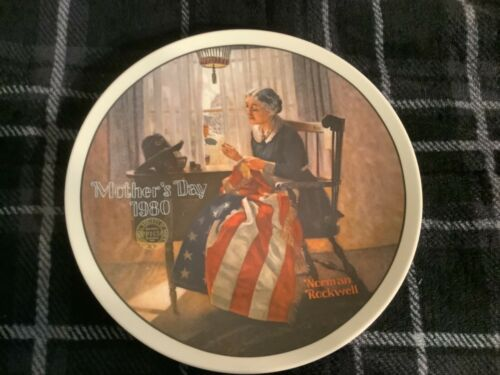 Mother's Day 1980 Plate by Norman Rockwell Free Ship