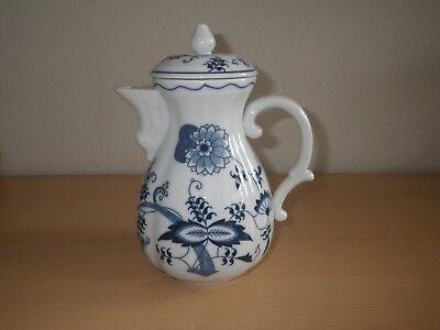 Kaffeekanne mit Deckel, Blue Danube Japan, Porzellan, sehr guter Zustand!!