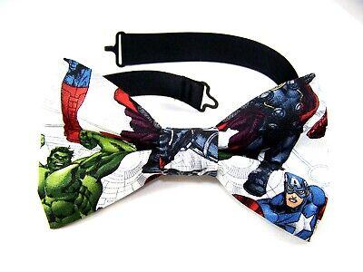 NEW FABRIC BOW TIE W/Adjustable Strap * THE HULK CAPTAIN AMERICA * Marvel Preppy