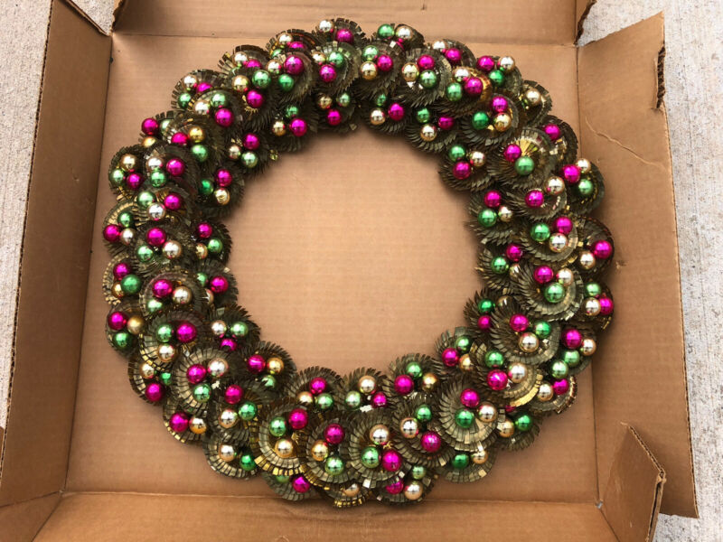 Vintage Handmade Metal Wreath