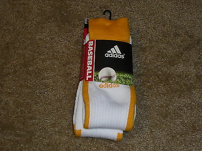 Compression Baseball Socks - 2 PAIRS ADIDAS BASEBALL SOCKS  CLIMALITE CUSHIONED COMPRESSION YELLOW SMALL