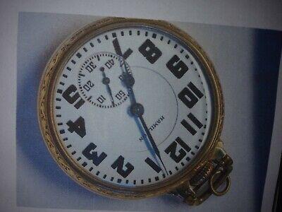 circa 1933 16 size Hamilton 992 Railroad Pocket Watch in Gold filled 10k Wadswor