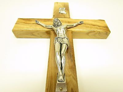"10"" Large Olive Wood Crucifix - Hanging Wall Cross - Hand made in the Holy Land"