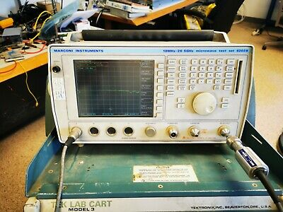 Marconi 6203 Microwave Test Set 10mhz-26ghz Scalar Detector Power Sensor More
