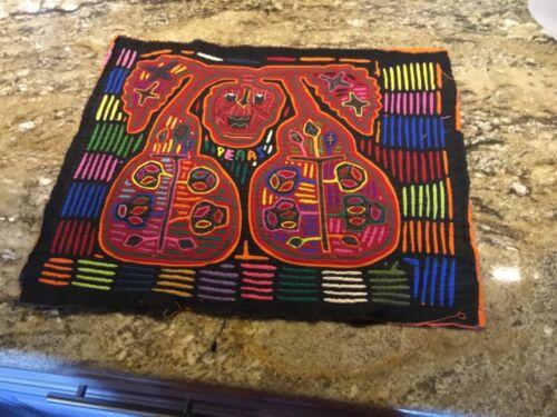 Vintage Kuna Mola Folk Fabric Art Work Embroidery panel