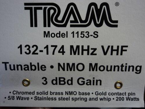 Tram 1153-S VHF 136 174 MHz Antenna Spring 2 Meter NMO 3db Gain Ham 5/8 wave