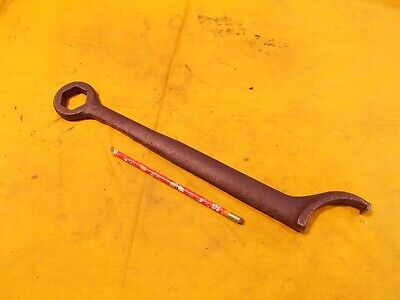 Vintage Spanner Wrench With Box End Machinist Lathe Tool 1 516 Hex