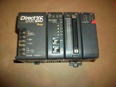 Koyo Automation Direct Plc System D2-03b D2-240 D2-32nd3  D2-08td2