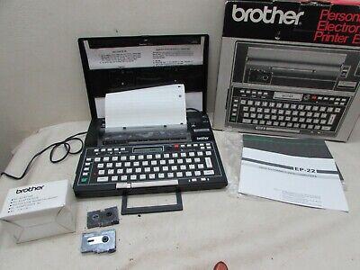 Vintage Brother Ep22 Electronic Printer Word Processor Typewriter Portable Japan