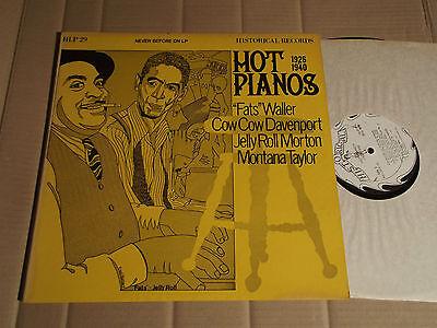 HOT PIANOS 1926 - 40 - FATS WALLER / COW DAVENPORT / JELLY ROLL MORTON ... - LP