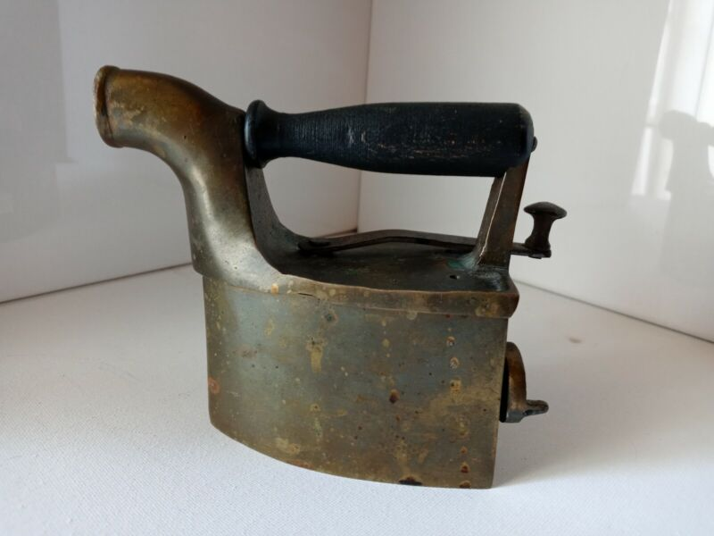 Antique Small Brass Coal Steam Pressing Iron