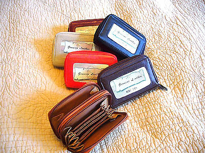(WOMEN SOFT LEATHER ACCORDION CREDIT CARD WALLET PURSE ID HOLDER COIN MONEY KEY)
